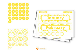 Wall Calendar (Digital Printout)-Yellow