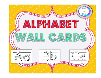 Wall Cards Alphabet Tracing