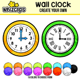 Wall Clock Clipart - Build Your Own