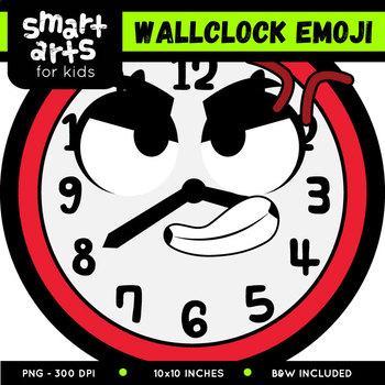 Wall Clock Emoji Clip Art
