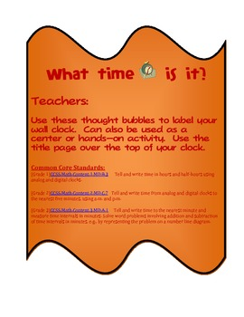 Wall Clock Labels (5 Minute Intervals)