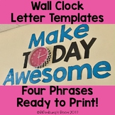 Wall Clock Letter Templates