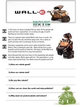 """Wall-E"" movie worksheet"