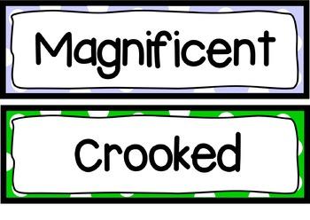 Wall Flashcards - Artful Adjectives