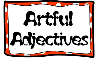 Wall Flashcards - Artful Adjectives
