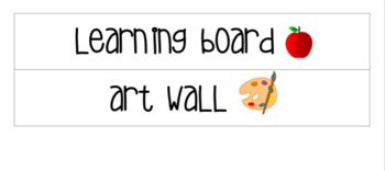 Wall Labels