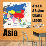 Wall Maps - Asia
