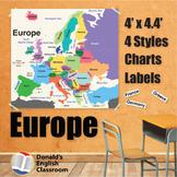 Wall Maps - Europe