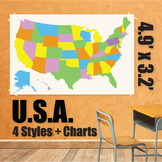 Wall Maps - USA