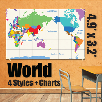 Wall Maps - World