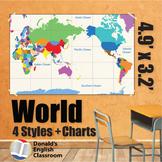 Wall Maps - World