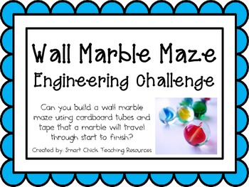 Wall Marble Maze: Engineering Challenge Project ~ Great STEM Activity!