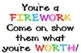 Wall Poster Quotes From Fireworks Song by Katie Perry