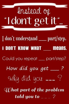 "Wall Poster - Instead of ""I Don't Get It""... (maroon with white text)"