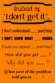 """Wall Poster - Instead of """"I Don't Get It""""... (orange with black text)"""