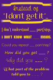 "Wall Poster - Instead of ""I Don't Get It""... (purple with"