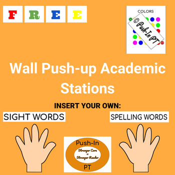 Wall Pushup Academic Stations