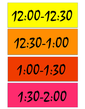 Wall Schedule Freebie