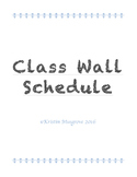 Wall Schedule Freebie