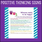 """Counselor Sign Pack """"Positive Thinking"""" Cognitive Behavioral Therapy"""