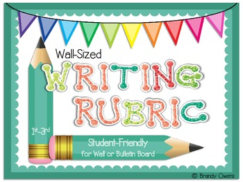 Wall-Sized Writing Rubric for Elementary Writers
