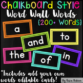 Word Wall Words: Chalkboard Brights Style