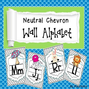 Wall alphabet ( neutral chevron )