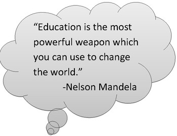 Wall decor--quotes on education