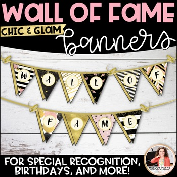 Wall of Fame Banner {Chic & Glam Pennant}