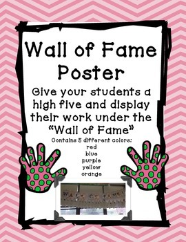 Wall of Fame Poster Set