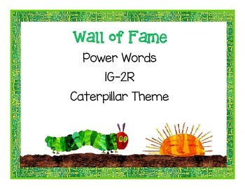 Wall of Fame Power Words 1G-2R