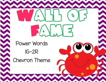 Wall of Fame Power Words 1G-2R Cheveron
