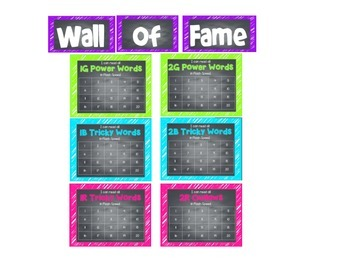 Wall of Fame Power Words 1G-2R Neon