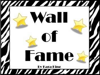 Wall of fame (accomplishment certificates for K-2)