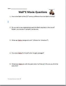 Wall*E Movie Questions
