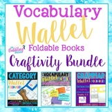 Wallet Foldable Books Craftivity BUNDLE- Categories, Vocab