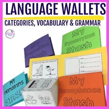 Wallet Foldable Books Craftivity BUNDLE- Categories, Vocab