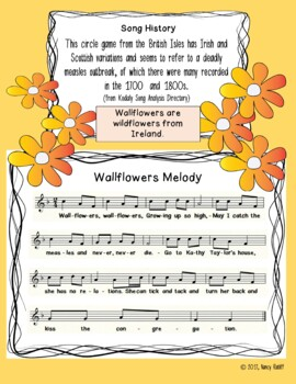 Wallflowers Folk Song Two-Part Choral Arrangement with Mallet Orff Accompaniment