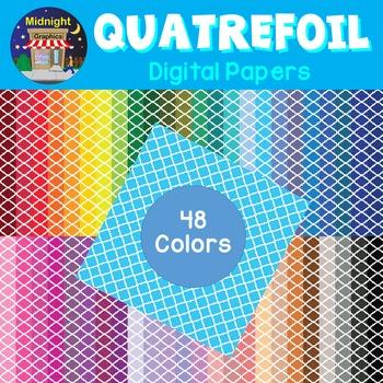 Digital Paper - Quatrefoil