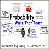 PROBABILITY- Vocabulary and Formulas Poster-Walls That Teach