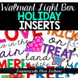 Light Box Holiday Season Printable Inserts