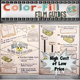 Walmart The High Cost of Low Price Color-fill Film Guide Doodle Notes