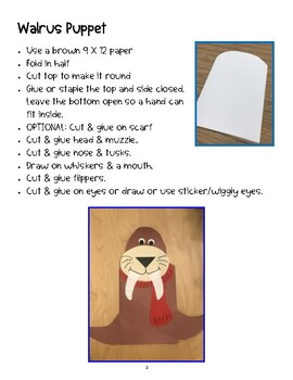 Walrus Craft -  Puppet