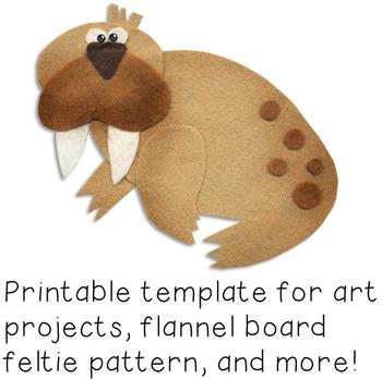 Walrus Craftivity Template
