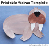 Walrus Craftivity Template