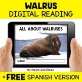 Walrus Reading Comprehension for Google Classroom - Distan