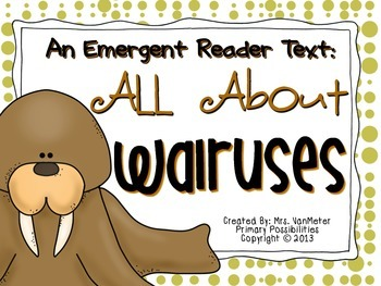 Walrus Emergent Reader Text