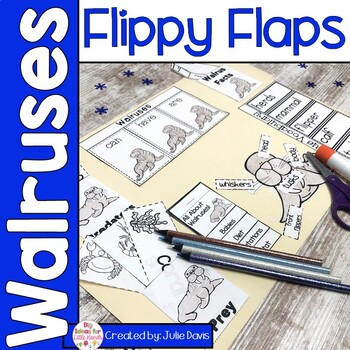 Walrus Flippy Flaps Interactive Notebook Lapbook