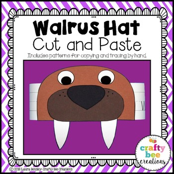 Walrus Hat Cut and Paste