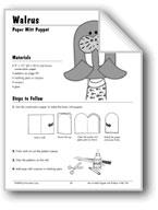 Walrus & Octopus Paper Mitt Puppets